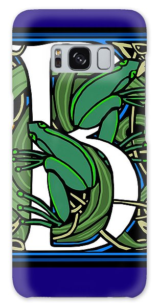 Celt Frogs Letter B Galaxy Case