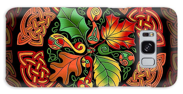 Celtic Autumn Leaves Galaxy Case by Kristen Fox