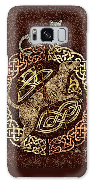 Celtic Cat And Dog Galaxy Case by Kristen Fox