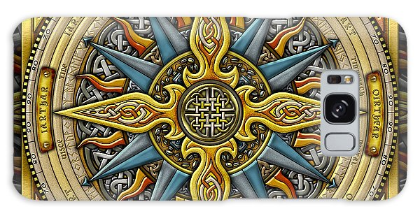 Celtic Compass Galaxy Case by Kristen Fox