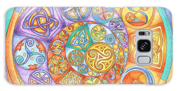 Celtic Crescents Rainbow Galaxy Case
