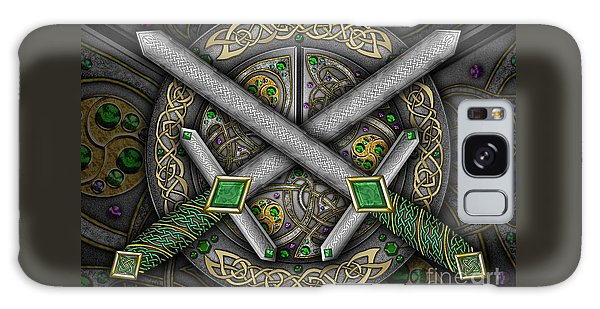 Celtic Daggers Galaxy Case by Kristen Fox