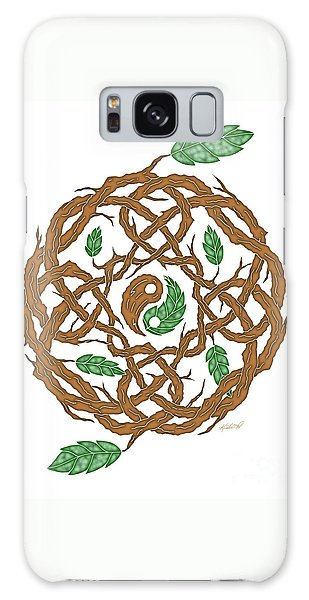 Celtic Nature Yin Yang Galaxy Case by Kristen Fox