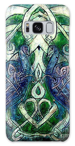 Celtic Peacocks Galaxy Case