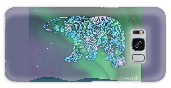 Celtic Polar Bear Galaxy Case by Kristen Fox