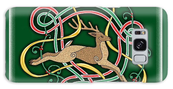 Celtic Reindeer Knots Galaxy Case