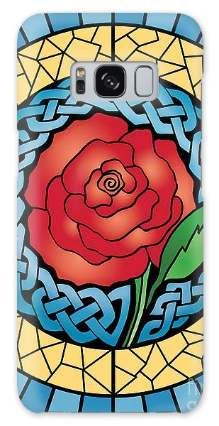 Celtic Rose Stained Glass Galaxy Case