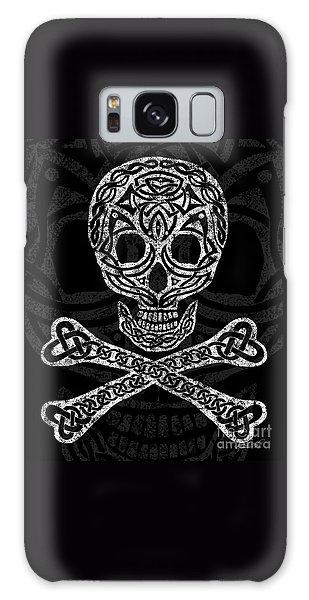 Celtic Skull And Crossbones Galaxy Case