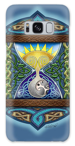 Celtic Sun Moon Hourglass Galaxy Case by Kristen Fox