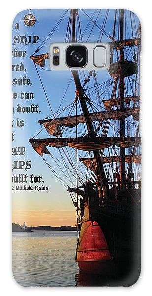 Celtic Tall Ship - El Galeon In Halifax Harbour At Sunrise Galaxy Case