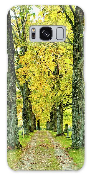 Cemetery Lane Galaxy Case by Greg Fortier