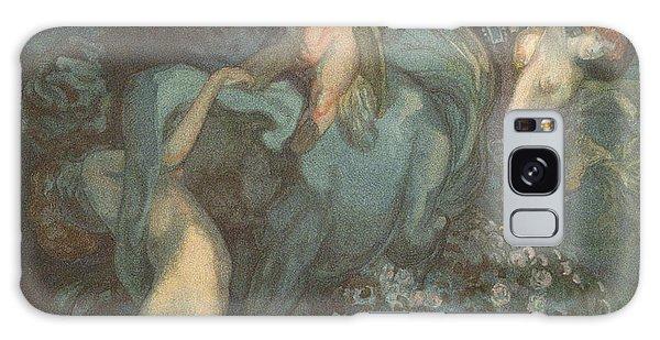 Centaur Nymphs And Cupid Galaxy Case by Franz von Bayros