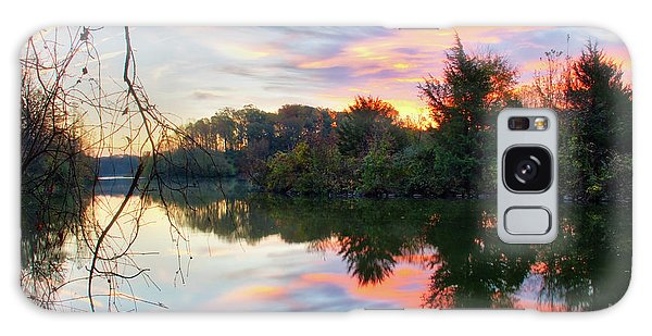Galaxy Case featuring the photograph Centennial Lake At Sunrise by Mark Dodd