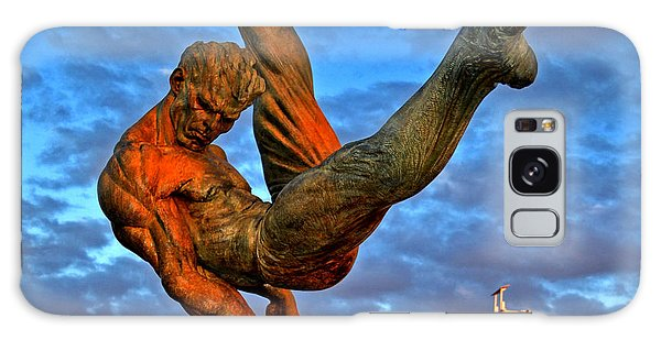 Centennial Park Statue 001 Galaxy Case by George Bostian