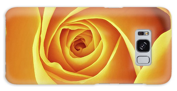 Center Of A Yellow Rose Galaxy Case by Jim Hughes