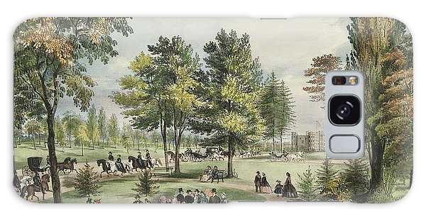 Central America Galaxy Case - Central Park  The Drive, 1862 by Currier and Ives
