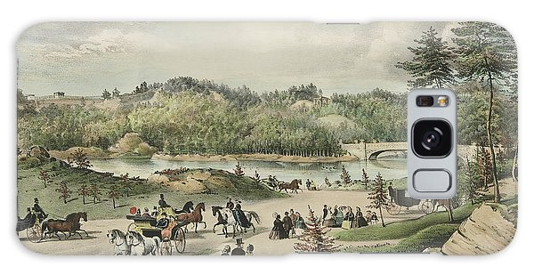 Central America Galaxy Case - Central Park  The Lake, 1862  by Currier and Ives