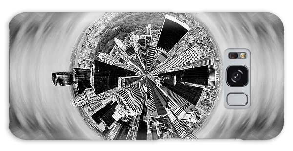State Park Galaxy Case - Central Park View Bw by Az Jackson
