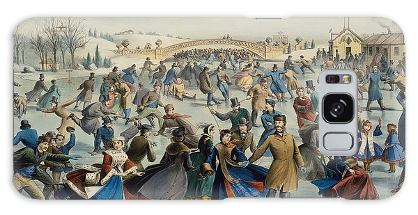 Central America Galaxy Case - Central Park, Winter The Skating Pond, 1862 by Currier and Ives