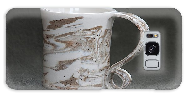 Ceramic Marbled Clay Cup Galaxy Case by Suzanne Gaff