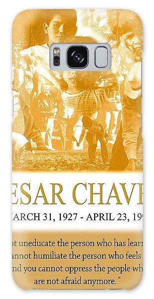 Cesar Chavez Poster Galaxy Case by John Keaton
