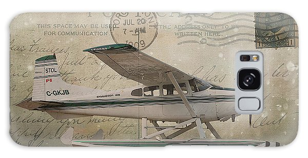 Cessna Skywagon 185 On Vintage Postcard Galaxy Case