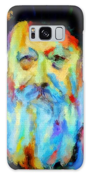 Chabad Lubavitch Rebbe Colorful Bright Acrylic Painting Menachem Schneerson Rabbi Crown Heights Rainbow Galaxy Case