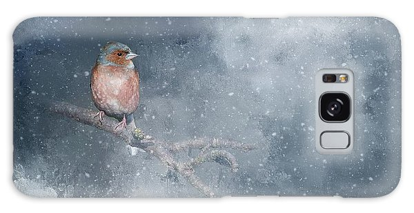 Chaffinch On A Cold Winter Day Galaxy Case