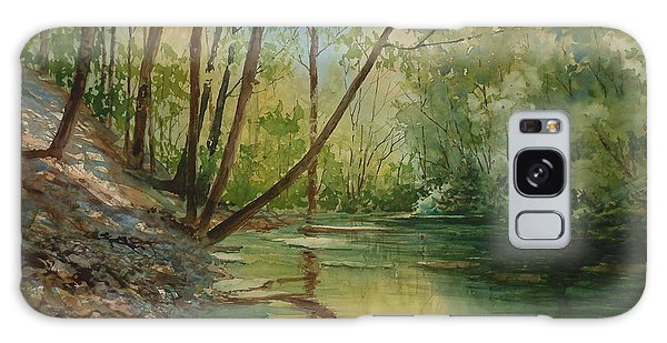 Chagrin River In Spring Galaxy Case