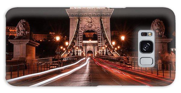 Chain Bridge At Midnight Galaxy Case by Jaroslaw Blaminsky