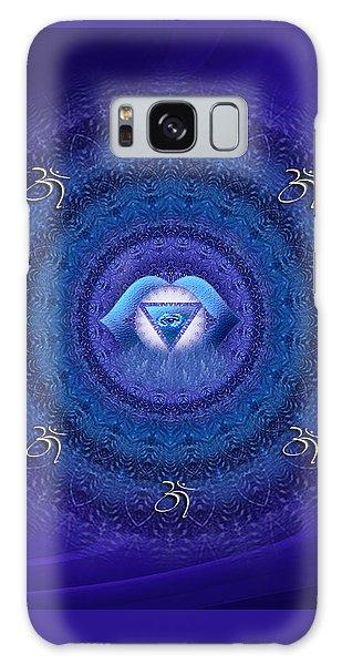 Chakra Mandala Art - Ajna Chakra Mandala By Rgiada Galaxy Case