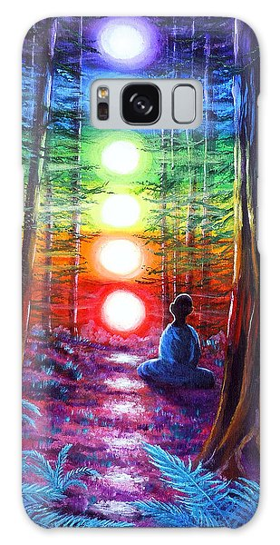 State Park Galaxy Case - Chakra Meditation In The Redwoods by Laura Iverson