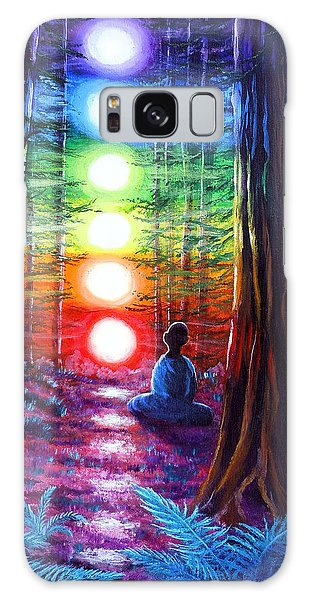 Surreal Galaxy Case - Chakra Meditation In The Redwoods by Laura Iverson
