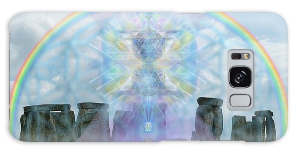 Chalice Over Stonehenge In Flower Of Life And Man Galaxy Case