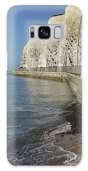 Chalk Cliffs At Peacehaven East Sussex England Uk Galaxy Case