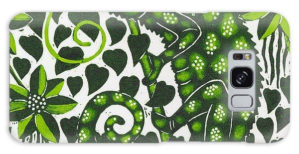 Wild Animals Galaxy Case - Chameleon by Nat Morley