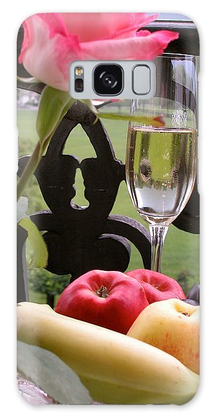 Champagne On The Balcony Galaxy Case by Carl Purcell