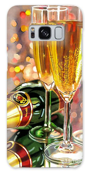 Champagne Wishes Galaxy Case