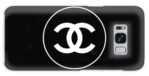 Logo Galaxy Case - Chanel - Black And White 02 - Lifestyle And Fashion by TUSCAN Afternoon