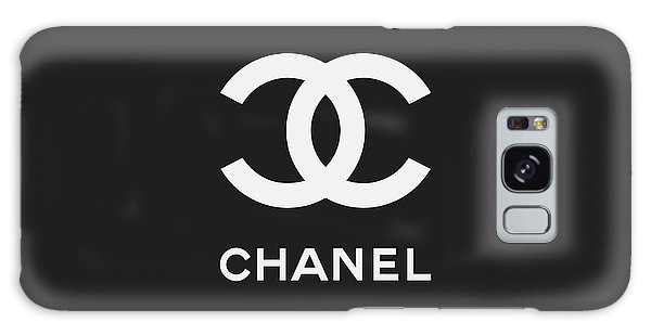 Logo Galaxy Case - Chanel - Black And White 03 - Lifestyle And Fashion by TUSCAN Afternoon