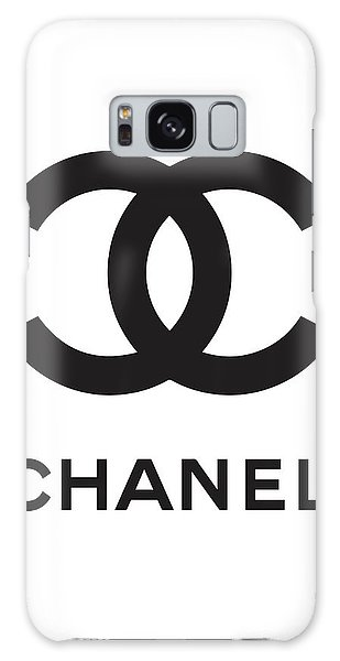 Logo Galaxy Case - Chanel - Black And White 04 - Lifestyle And Fashion by TUSCAN Afternoon
