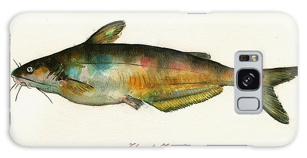 Channel Catfish Fish Animal Watercolor Painting Galaxy Case