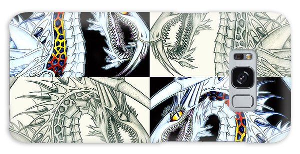 Galaxy Case featuring the digital art Chaos Dragon Fact Vs Fiction by Shawn Dall