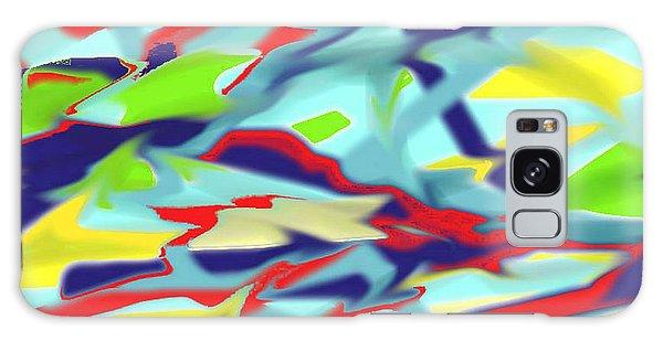 Chaos Into Form Blue Galaxy Case