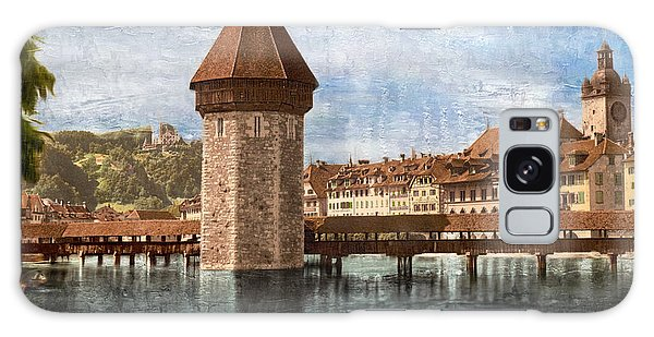 Chapel Bridge In Lucerne Galaxy Case