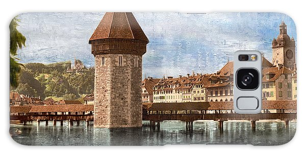Chapel Bridge In Lucerne Galaxy Case