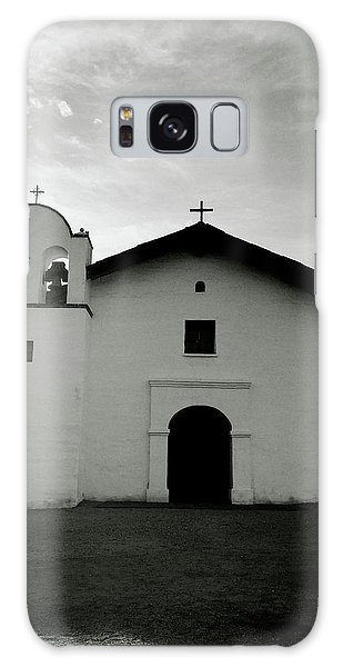 Black And White Art Galaxy Case - Chapel In The Shadows- Art By Linda Woods by Linda Woods