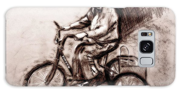 Charcoal Drawing Of Pedal To The Metal By Ayasha Loya Galaxy Case by Ayasha Loya