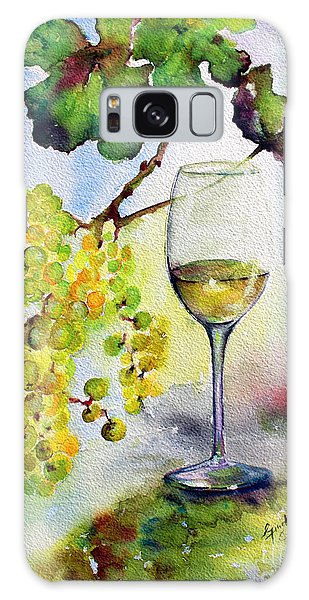 Chardonnay Wine Glass And Grapes Galaxy Case