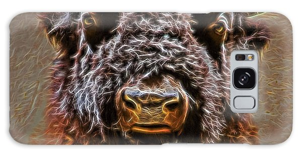 Galaxy Case featuring the digital art Charging Bison by Ray Shiu
